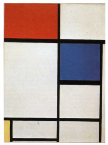 Mondrian B222 Composition II with Red, Blue and Yellow, 1930