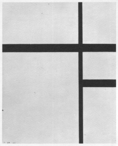 Mondrian B223 Composition No.2 with Black Lines, 1930
