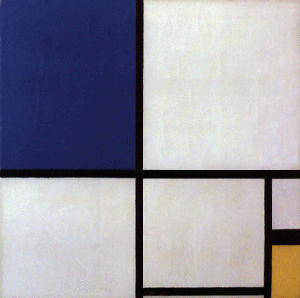 Mondrian B225 Composition No. II with Blue and Yellow, 1930