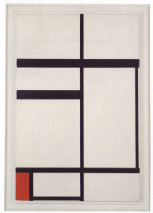 Mondrian B226 Composition No.1 with Red, 1931