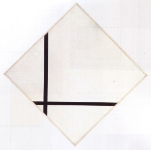 Mondrian B229 Lozenge, Composition with Two Lines, 1931