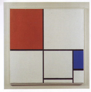 Mondrian B230 Composition A with Red and Blue, 1932