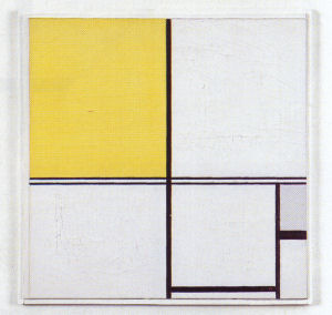 Mondrian B231 Composition B with Double Line and Yellow and Grey, 1932