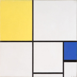 Mondrian B234 Composition with Yellow and Blue, 1932