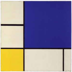 Mondrian B235 Composition with Blue and Yellow, 1932