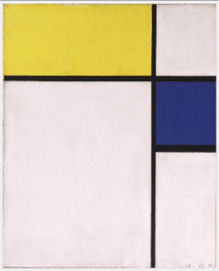 Mondrian B236 Composition with Yellow and Blue, 1932