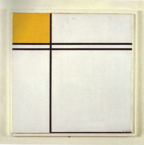 Mondrian B237 Composition with Double Line and Yellow, 1932