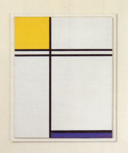 Mondrian B238 Composition with Double Line and Yellow and Blue, 1933
