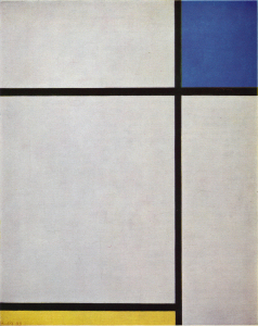Mondrian B240 Composition with Blue and Yellow, 1933