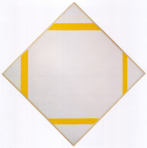 Mondrian B241 Lozenge Composition with Four Yellow Lines, 1933