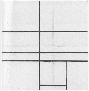 Mondrian B246 Composition with Double Line (unfinished), 1934