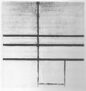 Mondrian B247 Composition with Double Line (unfinished), 1934