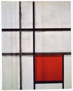 Mondrian B249 Composition with Red (unfinished), 1934