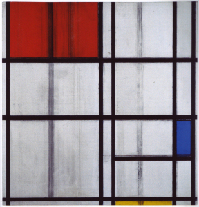 Mondrian B297 Composition with Red, Blue and Yellow