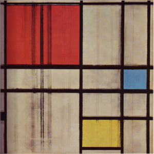 Mondrian B298 Composition with Red, Blue and Yellow