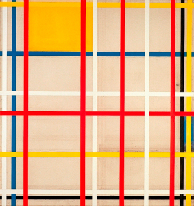 Mondrian B303 Composition with Yellow and Blue