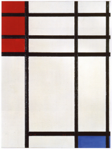 Mondrian B304 Composition of Red, Blue and White, 1939
