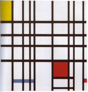 Mondrian B308 Composition with Yellow, Blue and Red, 1939-1942