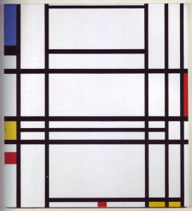 Mondrian B317 Composition No.10 with Blue, Yellow and Red, 1942