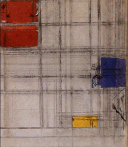 Mondrian B362 Study for Composition