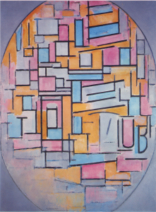 Mondrian B55 Composition in Oval with Colour Planes 1, 1914