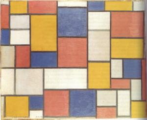 Mondrian B92 Composition with Colour Planes and Grey Lines 1, 1918