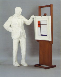 George Segal, Sidney Janis Looking at a Painting by Mondrian, 1967