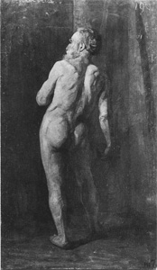 Mondrian A127 Standing Male Nude, 1901