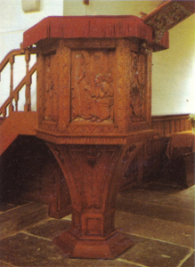 Mondrian A132 Pulpit Decorations for the English Church, Amsterdam (executed in wood by L.F. Edema Van der Tuuk), 1898