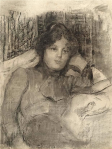 Mondrian A141 Young Woman Resting, c.1898-1900