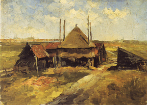 Mondrian A148 Haystack and Farmsheds in a Field, 1897-98