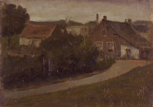 Mondrian A155 Country Lane with Houses, 1898-99