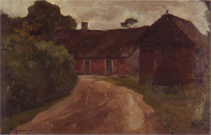Mondrian A166 Farm Complex in Het Gooi, Roadway in Foreground, c.1898-99