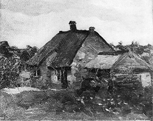 Mondrian A168 Small Farm Buildings in Het Gooi, c.1898