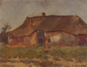 Mondrian A169 Farm Buildings in Het Gooi with Child, c.1898