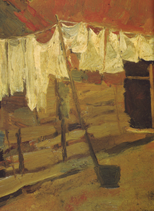 Mondrian A171 Farmhouse with Wash on Line, c.1898