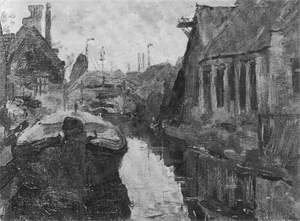 Mondrian A180 Lange Bleekerssloot with Barge, c.1898