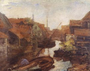 Mondrian A181 Lange Bleekerssloot: View toward the Kostverlorenvaart, c.1898