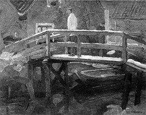Mondrian A187 Footbridge in the Schinkelbuurt, c.1899-1900