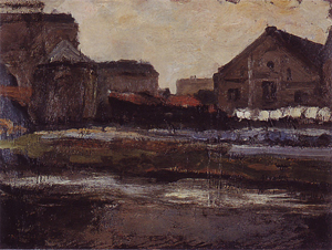 Mondrian A192 The Boerenwetering with Shed of the Royal Wax Candle Factory, c.1898-99
