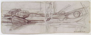 Mondrian A194 Study for the Stadhouderskade, Two-Page Drawing, c.1899
