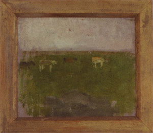 Mondrian A227 Landscape with Four Cows in Profile, c.1900-01