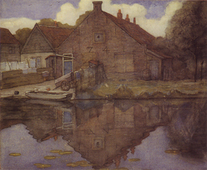 Mondrian A246 House on the Gein, 1741, watercolour, 1900