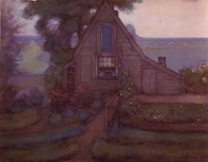 Mondrian A247 Triangulated Farmhouse Façade with Polder in Blue, c.1900