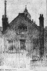 Mondrian A259 Upper Façade of House on the Hemonylaan, Amsterdam, c.1900