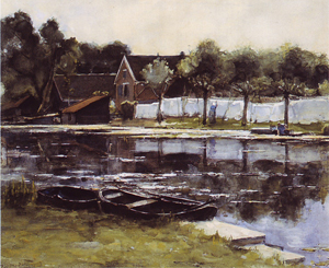Mondrian A282 Bleekerij aan het Gein (Bleechworks on the Gein), 1902