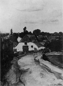 Mondrian A286 Roadway and Farm Building near Arnhem, c.1902