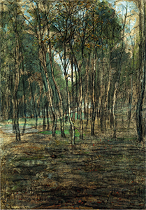 Mondrian A287 Berkembosje (Small Birch Forest), c.1902