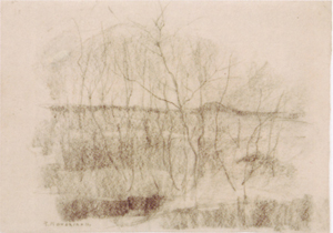 Mondrian A310 Leafless Tree Growths, c.1905