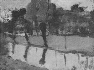 Mondrian A327 Farmstead with Willows on the Water I, c.1902-03